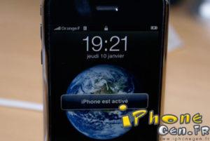 Activation de l' iPhone